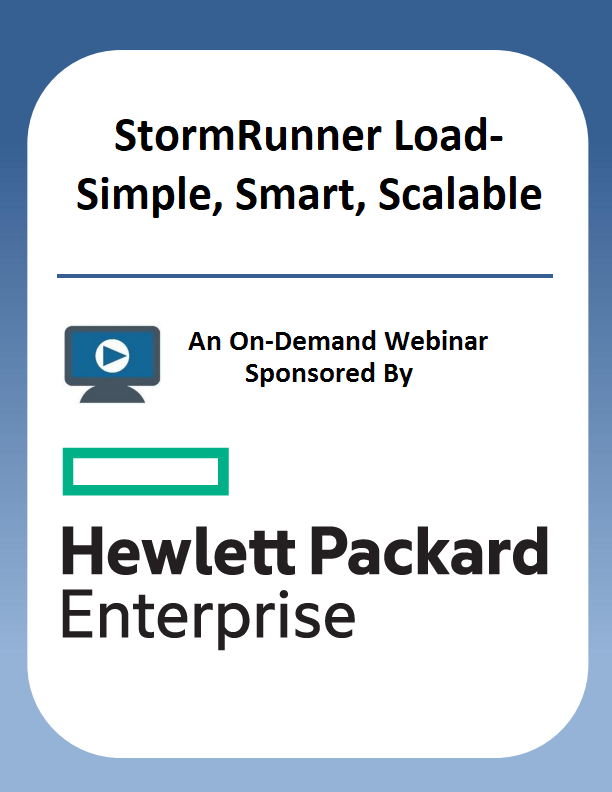 StormRunner Load-Simple, Smart, Scalable