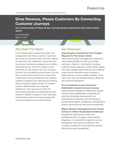 Forrester Research: Drive Revenue, Please Customers by Connecting Customer Journeys