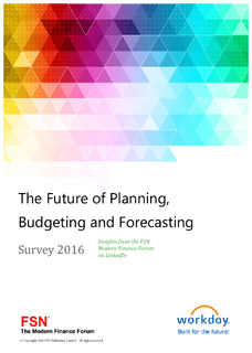 The Future of Planning, Budgeting and Forecasting: 2016 FSN Planning Survey Results