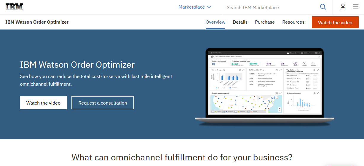 Watson Order Optimizer Demo