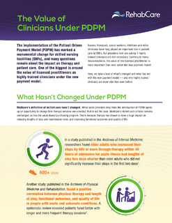 The Value of Clinicians Under PDPM