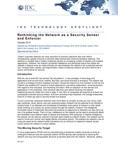 Rethinking the Network as a Security Sensor and Enforcer
