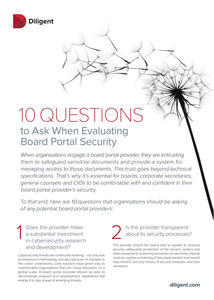 10 Questions to Ask When Evaluating Board Portal Security