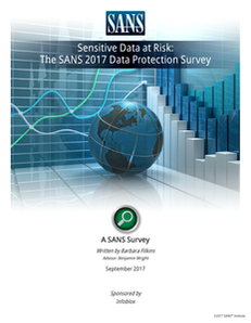 Sensitive Data at Risk: The SANS 2017 Data Protection Survey