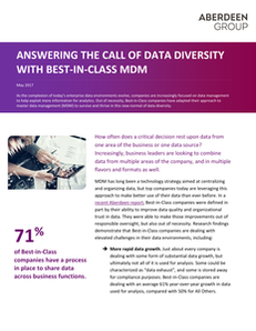 Answering the Call of Data Diversity with Best-in-Class MDM