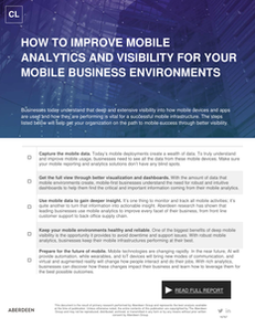 How to Improve Mobile Analytics and Visibility for Your Mobile Business Environments