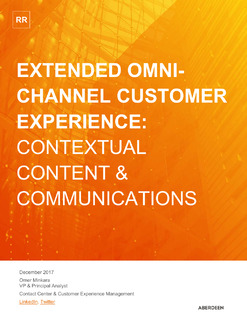 Extended Omni-Channel Customer Experience: Contextual Content & Communications