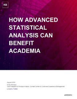 How Advanced Statistical Analysis Can Benefit Academia