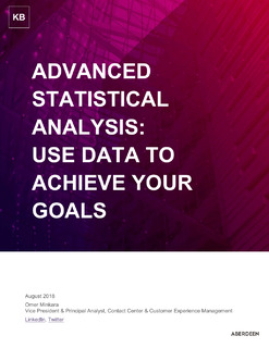 Advanced Statistical Analysis: Use Data to Achieve Your Goals