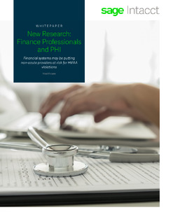 New Research: Finance Professionals and PHI
