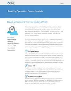 Security Operation Center Models