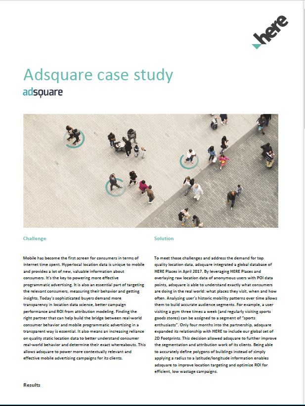 Working with adsquare