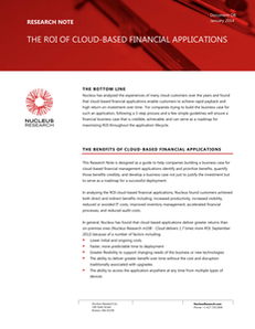 ROI of Cloud-based Financial Applications