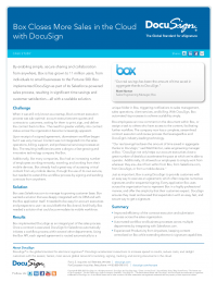 Case Study: Box Closes More Sales in the Cloud with DocuSign