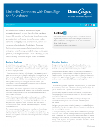 Case Study:  LinkedIn Connects with DocuSign for Salesforce