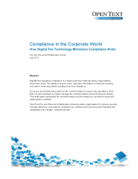 Compliance in the Corporate World: How Digital Fax Technology Minimizes Compliance Risks