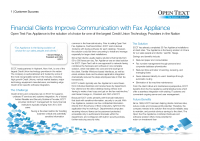 Financial Clients Improve Communication with Fax Appliance