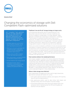 Changing the Economics of Storage with Dell Compellent Flash-optimized Solutions