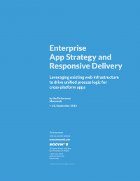 Enterprise App Strategy And Responsive Delivery