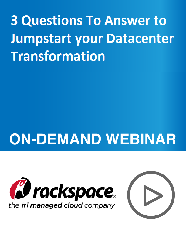 Video: 3 Questions To Answer to Jumpstart your Datacenter Transformation