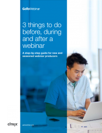 3 Things to do Before, During and After a Webinar