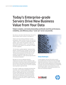 Today's Enterprise-grade Servers Drive New Business Value from Your Data