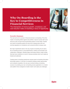 Why On-Boarding is the Key to Competitiveness in Financial Services