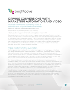 Driving Conversions with Marketing Automation and Video