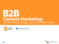 B2B Content Marketing: 2014 Benchmarks, Budgets, and Trends-North America
