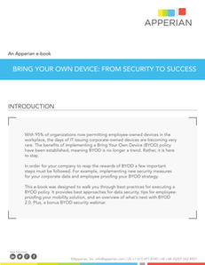 Bring Your Own Device:  From Security to Success