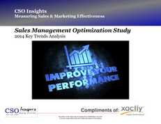 Sales Management Optimization Study – 2014 Key Trends Analysis