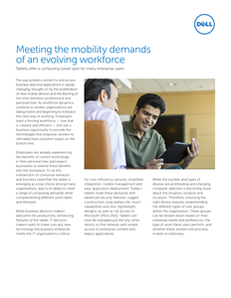 Meeting the Mobility Demands of an Evolving Workforce