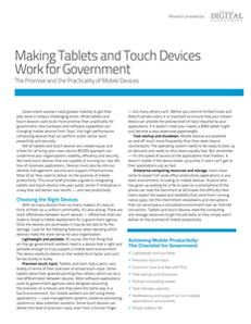 Making Tablets and Touch Devices Work for Government