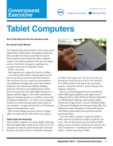 Tablet Computers:  Out of the Field and Into the Executive Suite