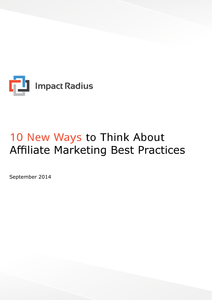 10 New Ways to Think About Affiliate Marketing Best Practices