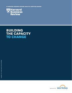 Harvard Business Review Analytic Services: Building the Capacity to Change