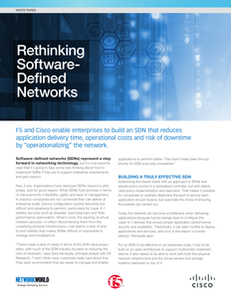 Rethinking Software-Defined Networks
