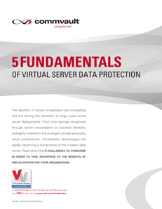 5 Fundamentals of Virtual Server Data Protection