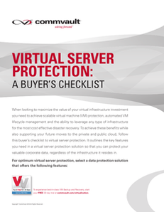 Virtual Server Protection:  A Buyer's Checklist