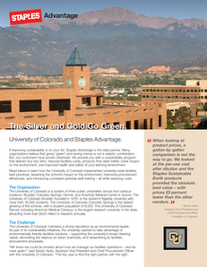 The Silver and Gold Go Green:  University of Colorado and Staples Advantage