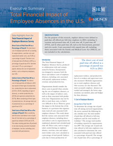 Total Financial Impact of Employee Absences in the U.S.