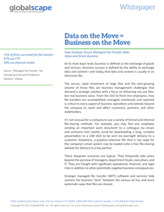 Data on the Move = Business on the Move
