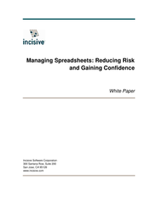 Make Spreadsheets Work – Save Time, Manage Risk, and Gain Visibility
