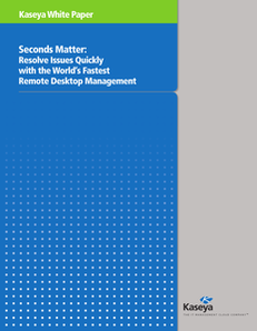 Seconds Matter: Resolve Issues Quickly with the World's Fastest Remote Desktop Management