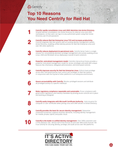 Top 10 Reasons You Need Centrify for Red Hat