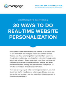 30 Ways to Do Real-Time Website Personalization