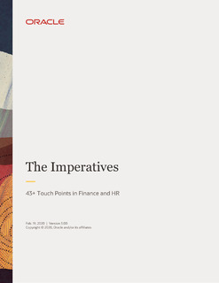 The Imperatives: 43+ Touch Points in Finance and HR