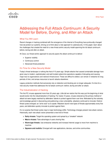 Addressing the Full Attack Continuum: A Security Model for Before, During and After an Attack