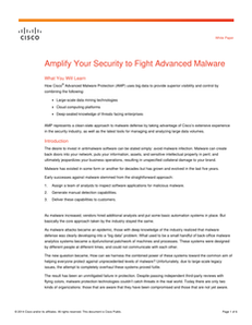 Amplify Your Security to Fight Advanced Malware