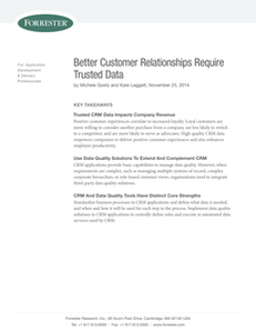 Better Customer Relationships Require Trusted Data